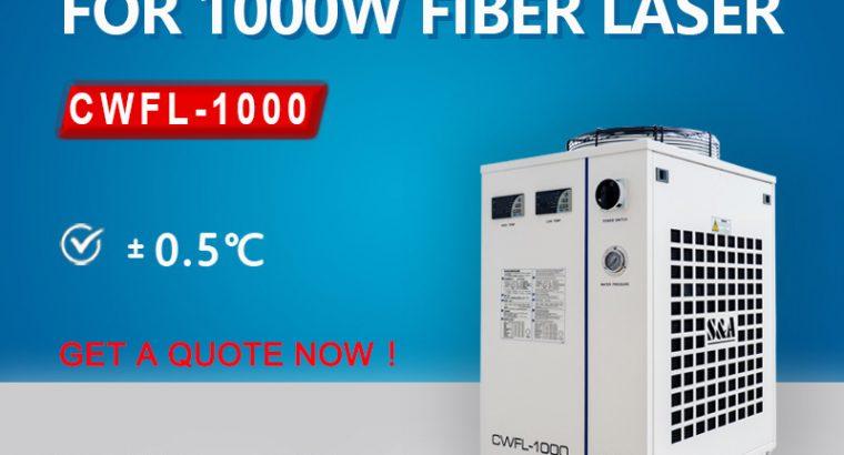 Air cooled laser water chiller for 1KW fiber laser